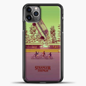 Stranger Things The Car Crashed iPhone 11 Pro Max Case, Black Plastic Case | casedilegna.com