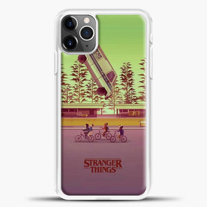 Stranger Things The Car Crashed iPhone 11 Pro Max Case, White Plastic Case | casedilegna.com