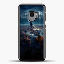 Load image into Gallery viewer, Stranger Things White Smoke Some Pumpkin Samsung Galaxy S9 Case, Black Plastic Case | casedilegna.com