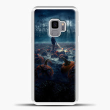 Load image into Gallery viewer, Stranger Things White Smoke Some Pumpkin Samsung Galaxy S9 Case, White Plastic Case | casedilegna.com