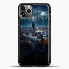 Load image into Gallery viewer, Stranger Things White Smoke Some Pumpkin iPhone 11 Pro Max Case, Black Plastic Case | casedilegna.com