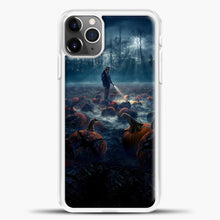 Load image into Gallery viewer, Stranger Things White Smoke Some Pumpkin iPhone 11 Pro Max Case, White Plastic Case | casedilegna.com