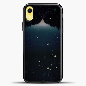 Stranger Things White Spark iPhone XR Case, Black Plastic Case | casedilegna.com