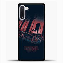 Load image into Gallery viewer, Strangerthings Series Netflix Samsung Galaxy Note 10 Case, Black Plastic Case | casedilegna.com