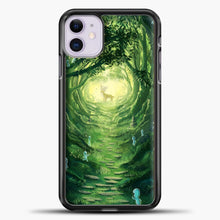 Load image into Gallery viewer, Studio Ghibli Deer In The Forest iPhone 11 Case, Black Plastic Case | casedilegna.com