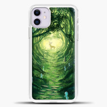 Load image into Gallery viewer, Studio Ghibli Deer In The Forest iPhone 11 Case, White Plastic Case | casedilegna.com