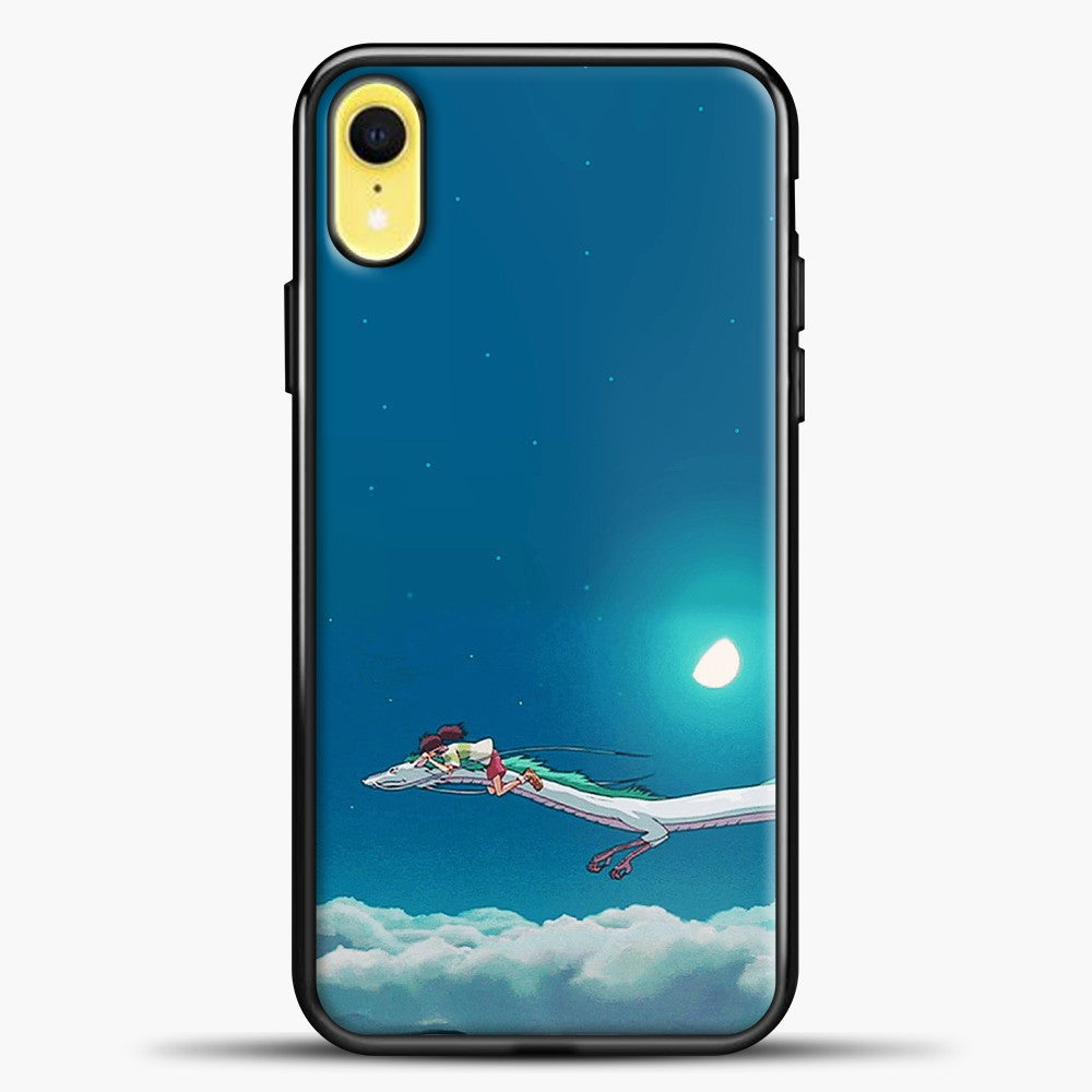 Studio Ghibli Dragon iPhone XR Case, Black Plastic Case | casedilegna.com