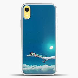 Studio Ghibli Dragon iPhone XR Case, White Plastic Case | casedilegna.com