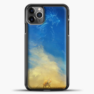 Studio Ghibli Evening iPhone 11 Pro Max Case, Black Plastic Case | casedilegna.com