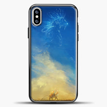 Load image into Gallery viewer, Studio Ghibli Evening iPhone XS Case, Black Plastic Case | casedilegna.com