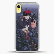 Load image into Gallery viewer, Studio Ghibli Fly The City iPhone XR Case, White Plastic Case | casedilegna.com