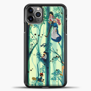 Studio Ghibli In The Tree iPhone 11 Pro Max Case, Black Plastic Case | casedilegna.com