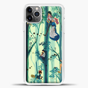 Studio Ghibli In The Tree iPhone 11 Pro Max Case, White Plastic Case | casedilegna.com