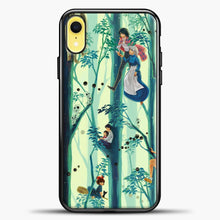 Load image into Gallery viewer, Studio Ghibli In The Tree iPhone XR Case, Black Plastic Case | casedilegna.com