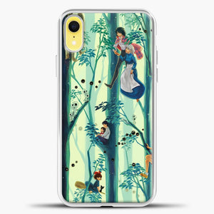 Studio Ghibli In The Tree iPhone XR Case, White Plastic Case | casedilegna.com