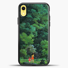 Load image into Gallery viewer, Studio Ghibli Tall Tree iPhone XR Case, Black Plastic Case | casedilegna.com