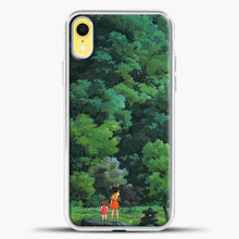 Load image into Gallery viewer, Studio Ghibli Tall Tree iPhone XR Case, White Plastic Case | casedilegna.com