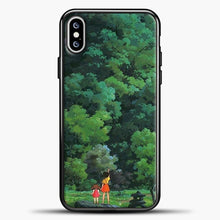 Load image into Gallery viewer, Studio Ghibli Tall Tree iPhone XS Max Case, Black Plastic Case | casedilegna.com