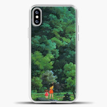Load image into Gallery viewer, Studio Ghibli Tall Tree iPhone XS Max Case, White Plastic Case | casedilegna.com
