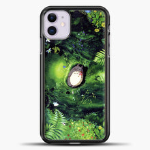 Load image into Gallery viewer, Studio Ghibli The Forest iPhone 11 Case, Black Plastic Case | casedilegna.com