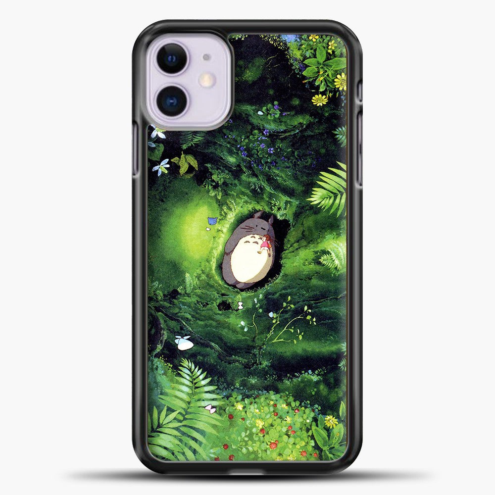 Studio Ghibli The Forest iPhone 11 Case, Black Plastic Case | casedilegna.com