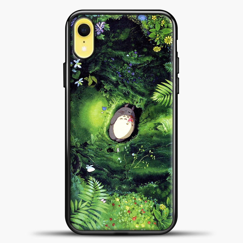 Studio Ghibli The Forest iPhone XR Case, Black Plastic Case | casedilegna.com