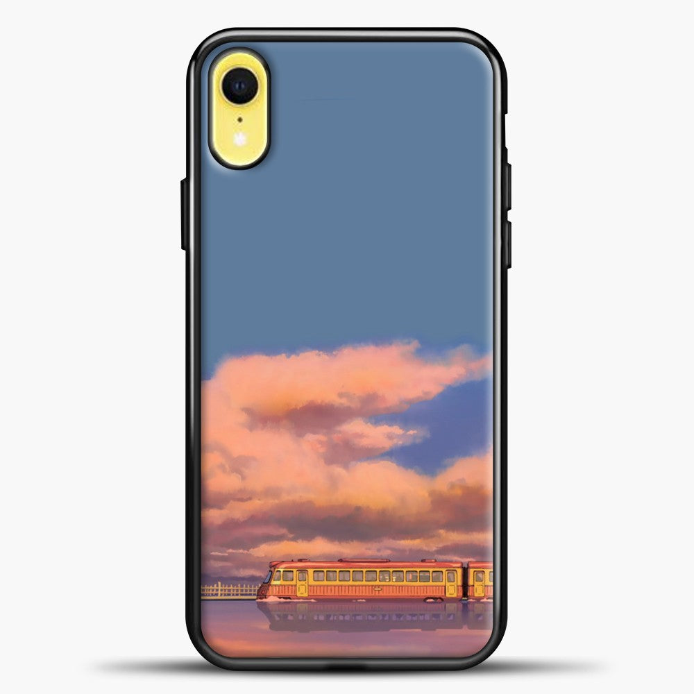 Studio Ghibli The Train iPhone XR Case, Black Plastic Case | casedilegna.com