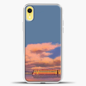 Studio Ghibli The Train iPhone XR Case, White Plastic Case | casedilegna.com