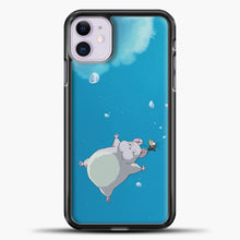 Load image into Gallery viewer, Studio Ghibli To Fly iPhone 11 Case, Black Plastic Case | casedilegna.com