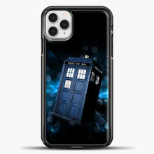 Load image into Gallery viewer, TARDIS Doctor Wallpaper TARDIS Doctor Who iPhone 11 Pro Case, Black Plastic Case | casedilegna.com
