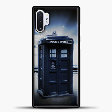 TARDIS Doctor Who Beach Samsung Galaxy Note 10 Plus Case, Black Plastic Case | casedilegna.com