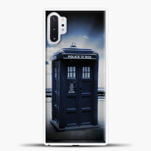 TARDIS Doctor Who Beach Samsung Galaxy Note 10 Plus Case, White Plastic Case | casedilegna.com