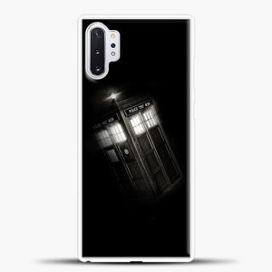 TARDIS Doctor Who Black Samsung Galaxy Note 10 Plus Case, White Plastic Case | casedilegna.com