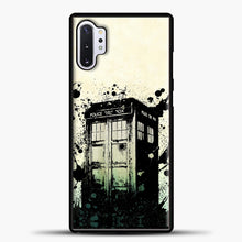 Load image into Gallery viewer, TARDIS Doctor Who Exploding Tardis Samsung Galaxy Note 10 Plus Case, Black Plastic Case | casedilegna.com