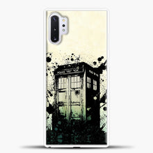 Load image into Gallery viewer, TARDIS Doctor Who Exploding Tardis Samsung Galaxy Note 10 Plus Case, White Plastic Case | casedilegna.com