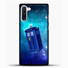 Load image into Gallery viewer, Tardis Blue Space Samsung Galaxy Note 10 Case, Black Plastic Case | casedilegna.com