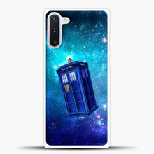 Load image into Gallery viewer, Tardis Blue Space Samsung Galaxy Note 10 Case, White Plastic Case | casedilegna.com