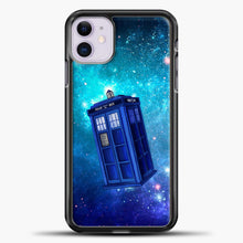 Load image into Gallery viewer, Tardis Blue Space iPhone 11 Case, Black Plastic Case | casedilegna.com