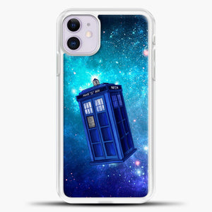 Tardis Blue Space iPhone 11 Case, White Plastic Case | casedilegna.com