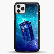 Load image into Gallery viewer, Tardis Blue Space iPhone 11 Pro Case, Black Plastic Case | casedilegna.com