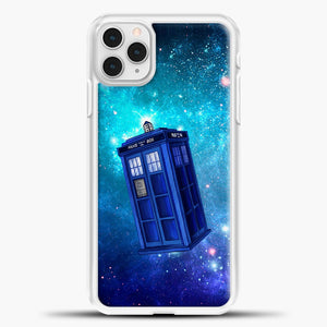 Tardis Blue Space iPhone 11 Pro Case, White Plastic Case | casedilegna.com