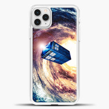 Load image into Gallery viewer, Tardis Nebula iPhone 11 Pro Case, White Plastic Case | casedilegna.com