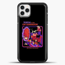 Load image into Gallery viewer, The Cat Dimension iPhone 11 Pro Case, Black Plastic Case | casedilegna.com