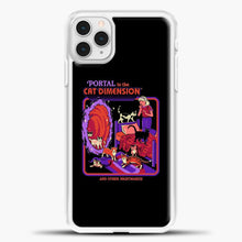 Load image into Gallery viewer, The Cat Dimension iPhone 11 Pro Case, White Plastic Case | casedilegna.com
