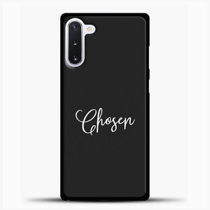 The Chosen White Image Black Background Samsung Galaxy Note 10 Case