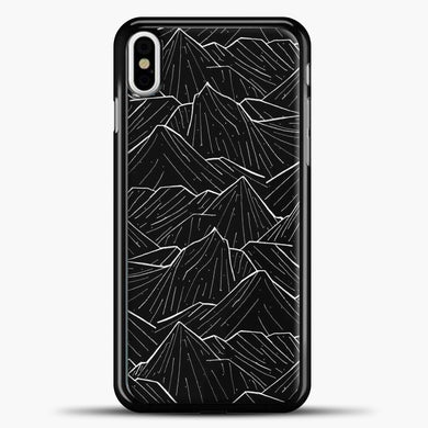 The Dark Mountains iPhone Case, Black Plastic Case | casedilegna.com