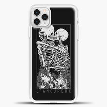 Load image into Gallery viewer, The Lovers Relaxed iPhone 11 Pro Case, White Plastic Case | casedilegna.com