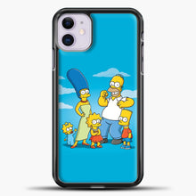 Load image into Gallery viewer, The Simpsons Family iPhone 11 Case, Black Plastic Case | casedilegna.com