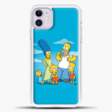 Load image into Gallery viewer, The Simpsons Family iPhone 11 Case, White Plastic Case | casedilegna.com