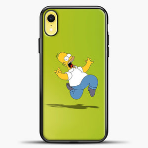 The Simpsons Freaky Homer iPhone XR Case, Black Plastic Case | casedilegna.com